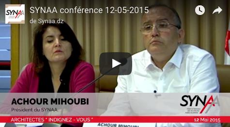 Intervention du président du Synaa Achour Mihoubi lors de la conférence du 12-05-2015 Architectes Indignez-vous
